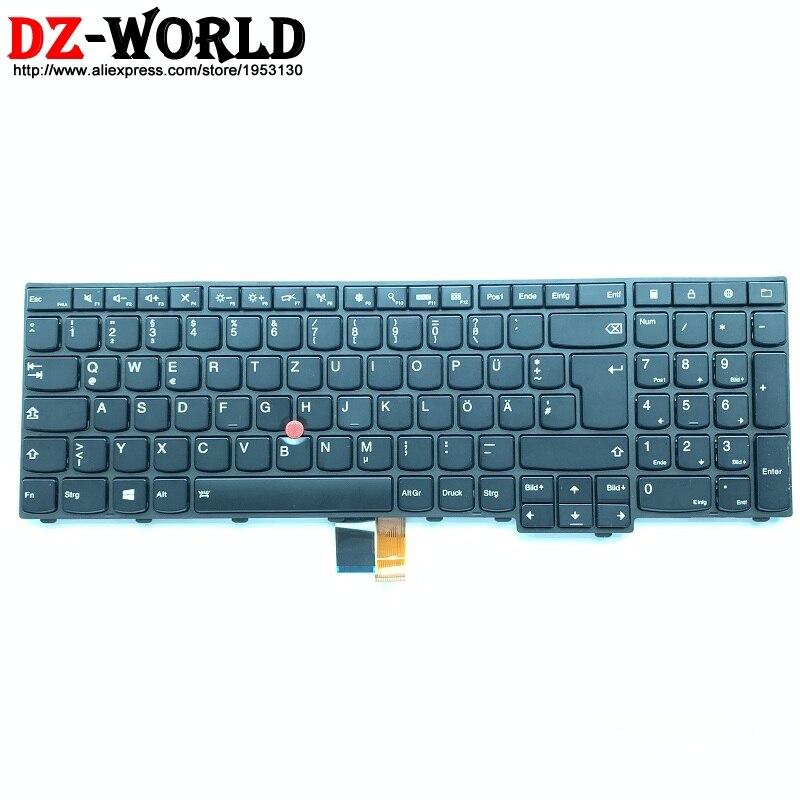 New GR DE German Backlit Keyboard For Lenovo Thinkpad W540 W541 T540P T550 T560 W550S P50S Backlight Teclado 04Y2399 04Y2477