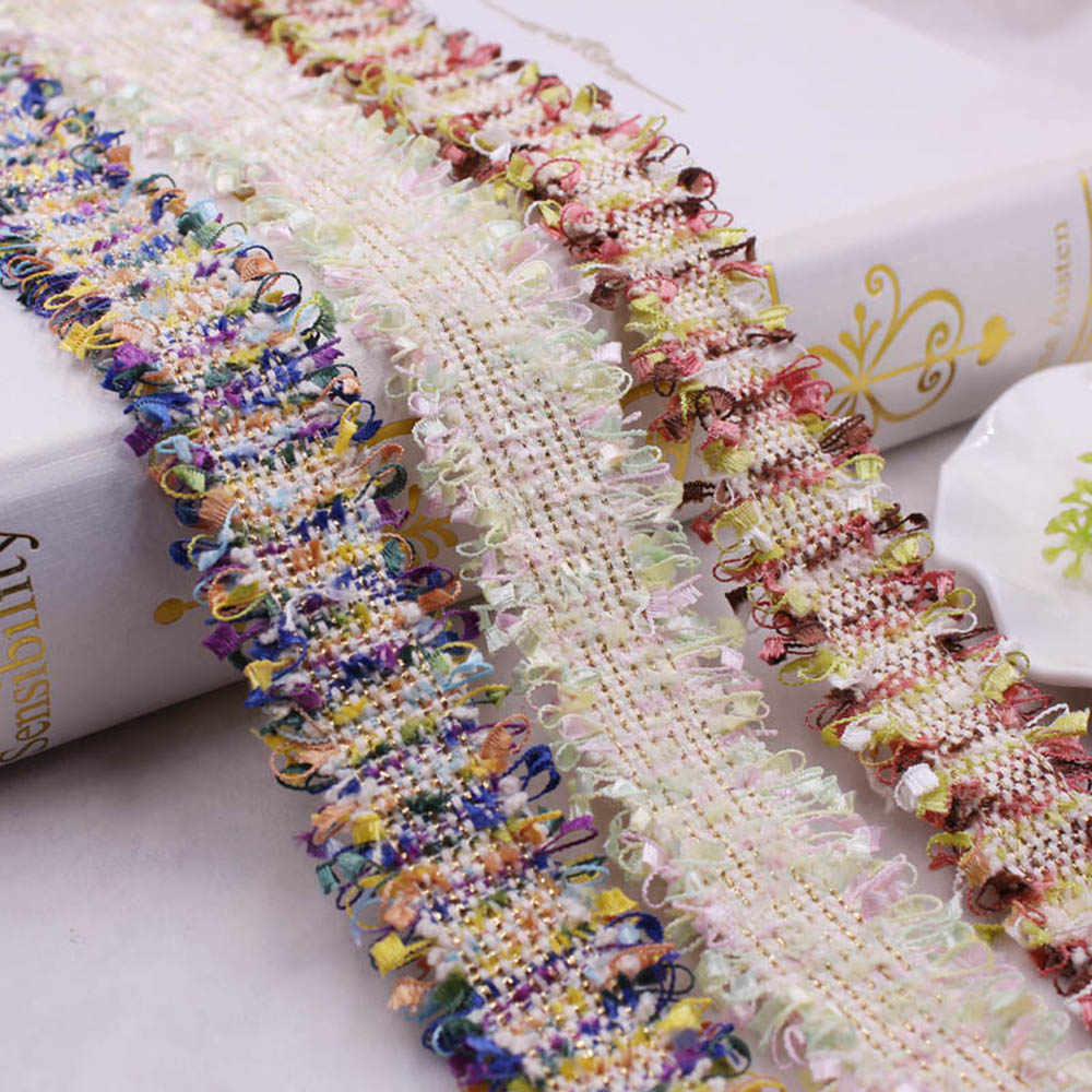 1 חצר מלאכת בציר ניילון זהב רקום תחרה לקצץ סרט בד בעבודת יד DIY תלבושות שמלת תפירת ספקי