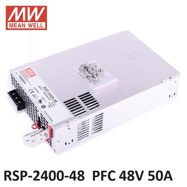 US $473 1 5% OFF|Original MEAN WELL RSP 2400 48 2400W 50A 48V big power  supply PFC in Parallel led driver meanwell Power Supply 48V 2400W-in  Switching