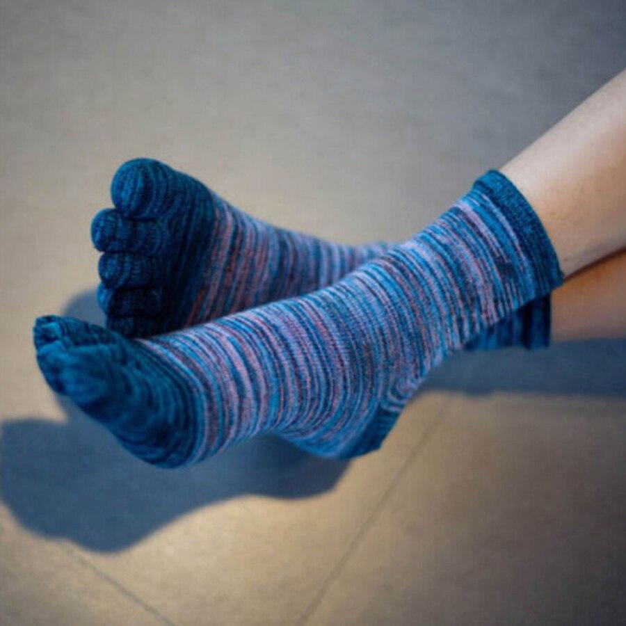 Image 4 - VERIDICAL 5 Pairs toe socks for man cotton colorful Five Finger Socks meia masculina funny socks sokken vintage mans socksMens Socks   -