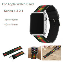 Nylon Woven Sport loop Strap For apple watch band 44mm 40mm Embroidered Golden Bees bracelet For iwatch series 4 3 2 1 42mm 38mm цена и фото