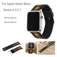 купить Nylon Woven Sport loop Strap For apple watch band 44mm 40mm Embroidered Golden Bees bracelet For iwatch series 4 3 2 1 42mm 38mm по цене 835.91 рублей