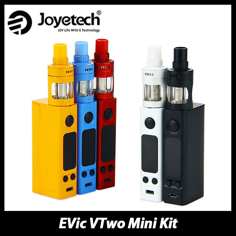 Original Joyetech eVic VTwo Mini Kit Electronic Cigarette Vaping Kit with Cubis Pro Tank vs VTWO MINI Box MOD eVic VTC Mini цена 2017