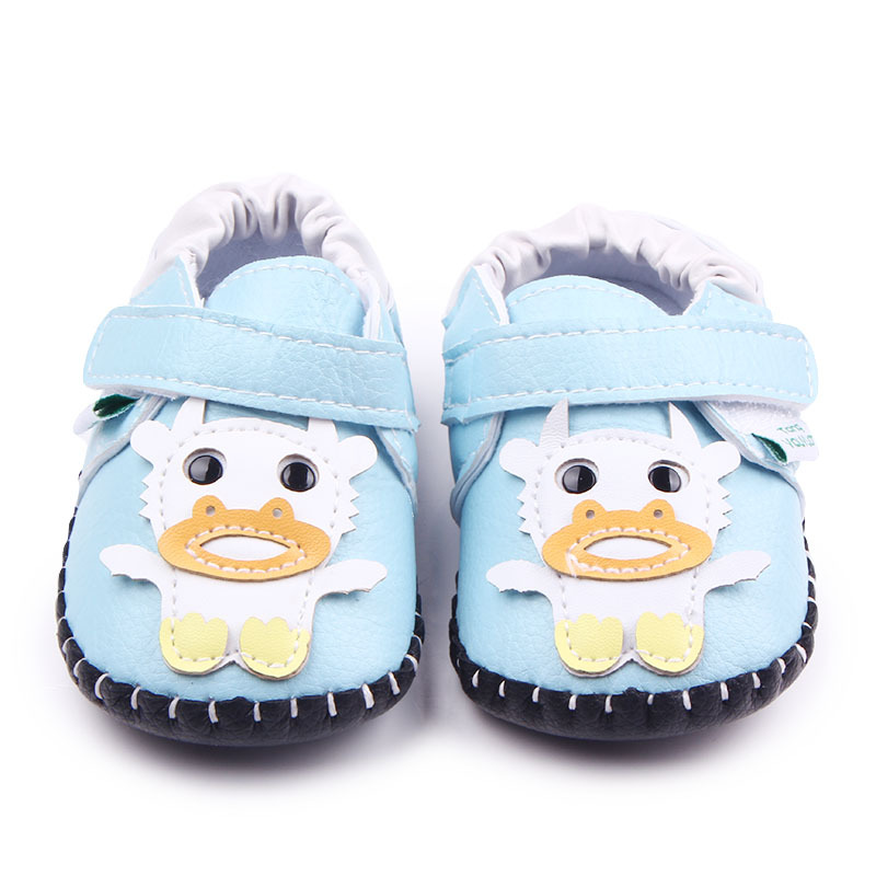 Baby Boys Crib Sko Piger First Walkers Cartoon Newborn Soft PU Læder Tenis Infant Mocassins Toddler Sports Sneakers For Kids