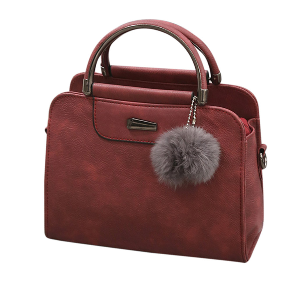 Handbag Casual Tote-Bag Bolsas Messenger-Bags Fur-Ball Large High-Quality Women Feminina