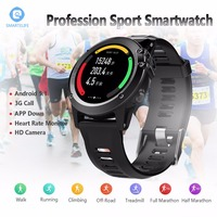 SMARTELIFE 3G Android Running Smart Watch With Camera Heart Rate GPS WIFI Altimeter Pressure Compass Wearable
