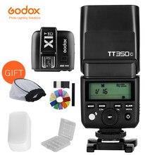 GODOX TT350C Mini Flash TTL HSS 2.4G sans fil avec X1T-C émetteur déclencheur sans fil Flash pour Canon 5D Mark III 80D 7D 760D