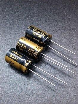 цена на 2019 hot sale 10pcs/30pcs Nichicon KZ 220uF/25V genuine spot 220uf 25v audio import for capacitor free shipping