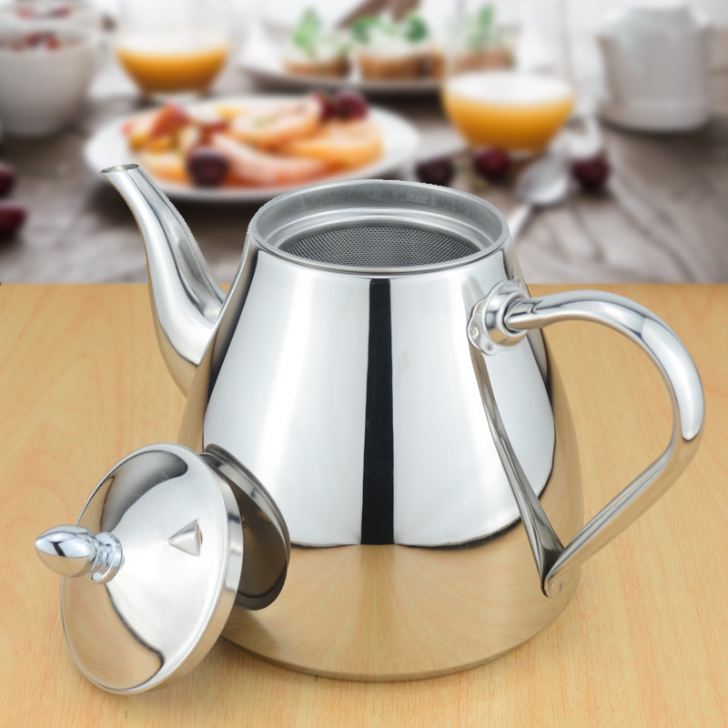 Sanqia stainless steel tea pot with tea strainer teapot with tea infuser teaware sets tea kettle infuser teapot for induction