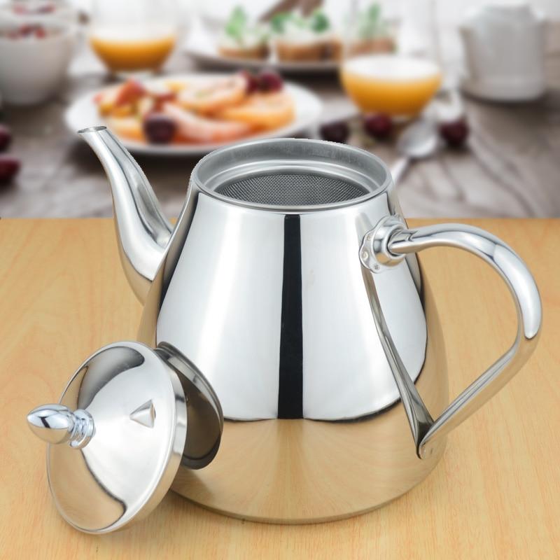 Tetera de acero inoxidable Sanqia con tetera colador de té con infusor de té juegos de té tetera infusor de tetera para inducción