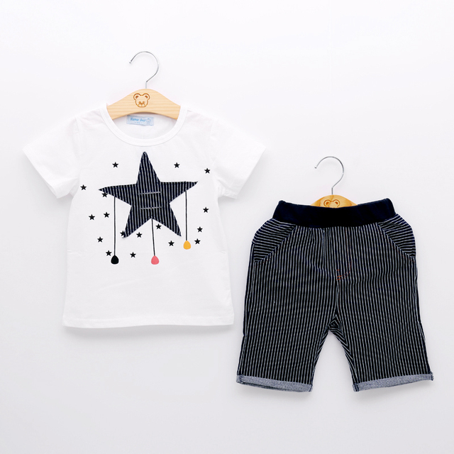 Boys' Casual Star Printed Clothes Set
