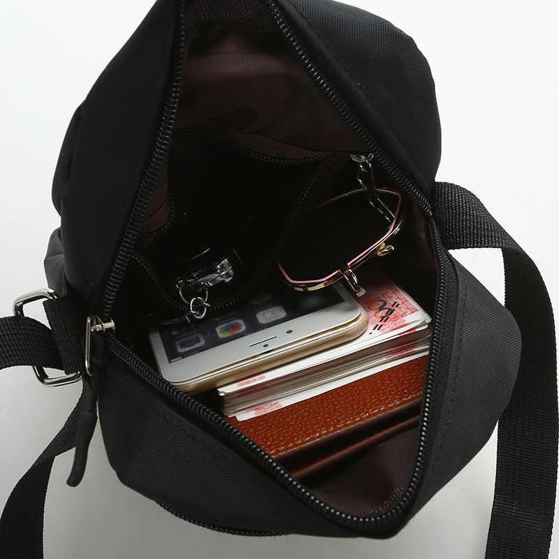 32ad795eaefe ... Casual Men s Bag Mini Single Shoulder Messenger Bag Nylon Travel  Crossbody Bag for Men Light Women ...