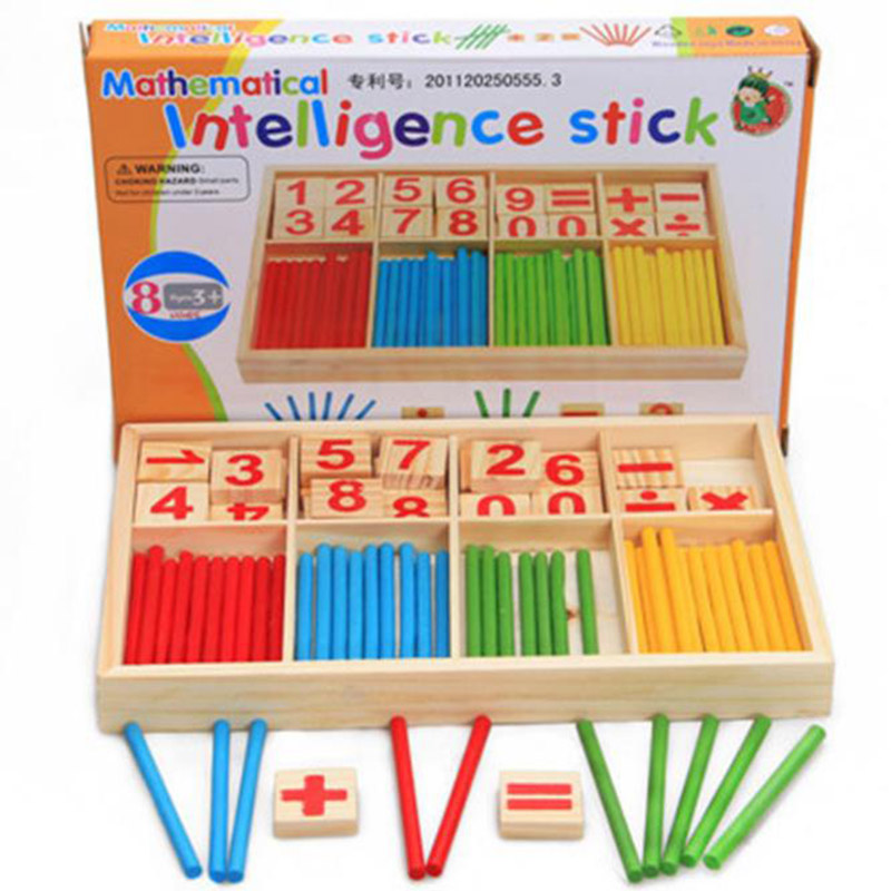 Baby Education Toys Colorful Wooden Counting Sticks Montessori Mathematical Kids Preschool Arithmetic Learning Toys