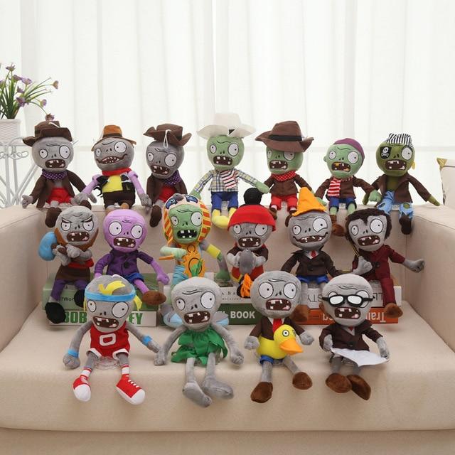 26 estilos Plants vs Zombies Brinquedos De Pelúcia 30 cm Plants vs Zombies Macio Recheado de Brinquedos de Pelúcia Boneca de Brinquedo Do Bebê para crianças Presentes Brinquedos Festa