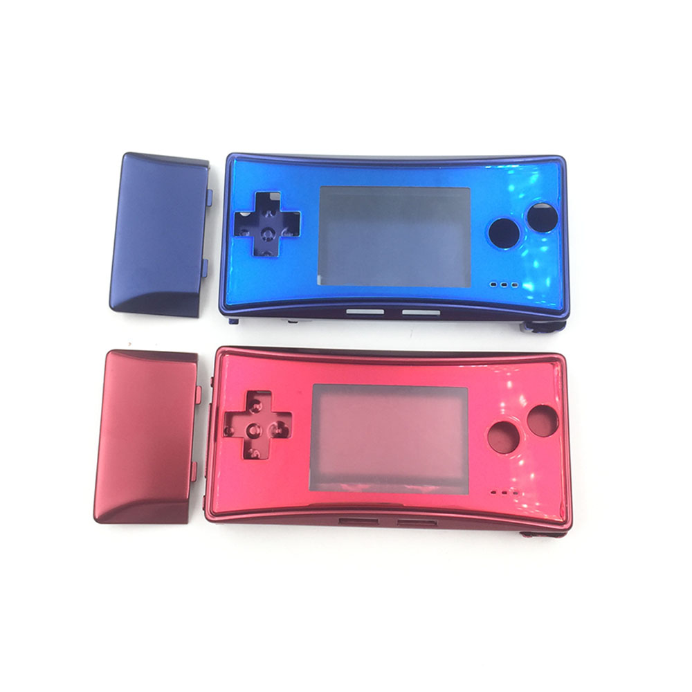 Red Blue Housing Shell Case Front Case Cover for Nintendo Gameboy Micro GBM Front Back Battery Holder