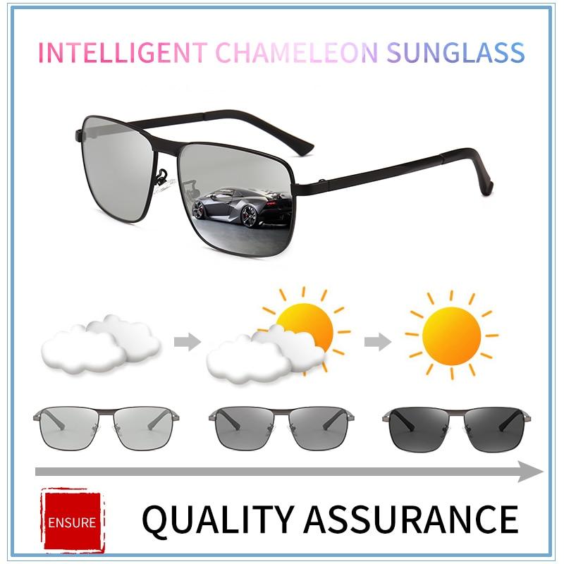 04187e974dd 2018 new Driving Photochromic Sunglasses Men Polarized Chameleon  Discoloration vintage retro Sun glasses for men sunglass cool