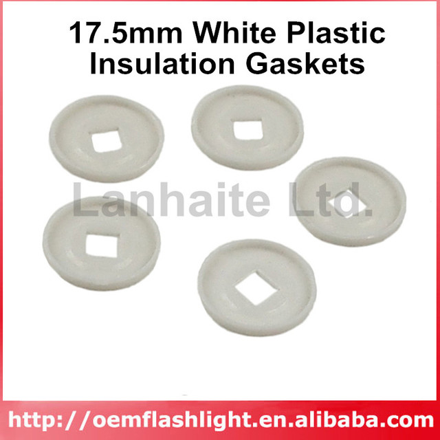 Aliexpress.com : Buy 17.5mm White Plastic Insulation Gaskets (5 pcs ...