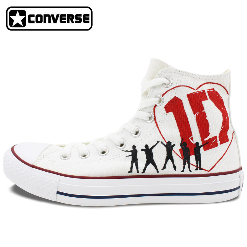 7e817bdc46f1 New Original Converse All Star 1D Women Men Shoes One Direction Design  Custom Hand Painted Sneakers