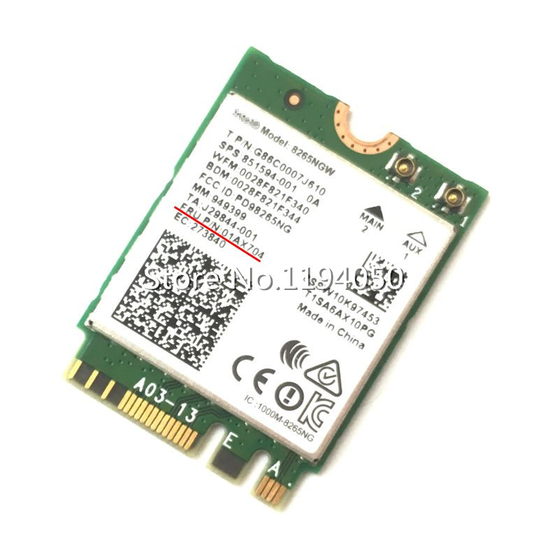 New Dual Band Wlan For Intel 8265NGW Wireless-AC 8265 NGFF 802.11ac 867Mbps WIFI 802.11ac Wi-Fi + Bluetooth 4.2 Card 2.4G/5G new for intel dual band wireless n 7265 7265ngw 802 11n 2 x 2 wifi 300mbps ngff m 2 card 7265nb 2 4g 5g