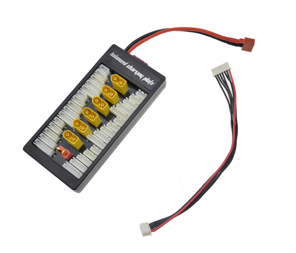 Xt60 Lipo Parallel Charging Board 6 Batteries Charger Plate Battery Wiring Sl1100 71f1irjefhl