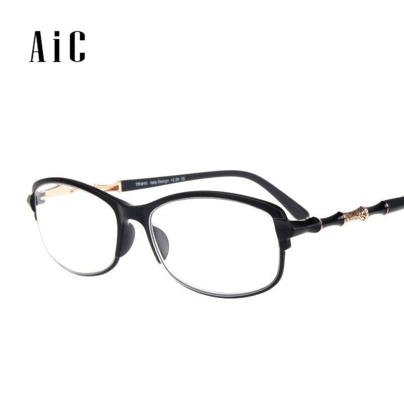 13ea13bf3f Gafas de lectura AIC hombres y mujeres TR-90 marco de lectura de luz ...