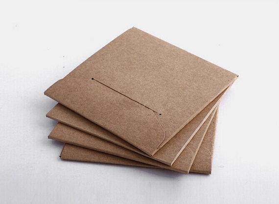 Mail & Shipping Supplies Office & School Supplies 50pcs Kraft Paper Envelopes For Wedding Announcement 16x11cm