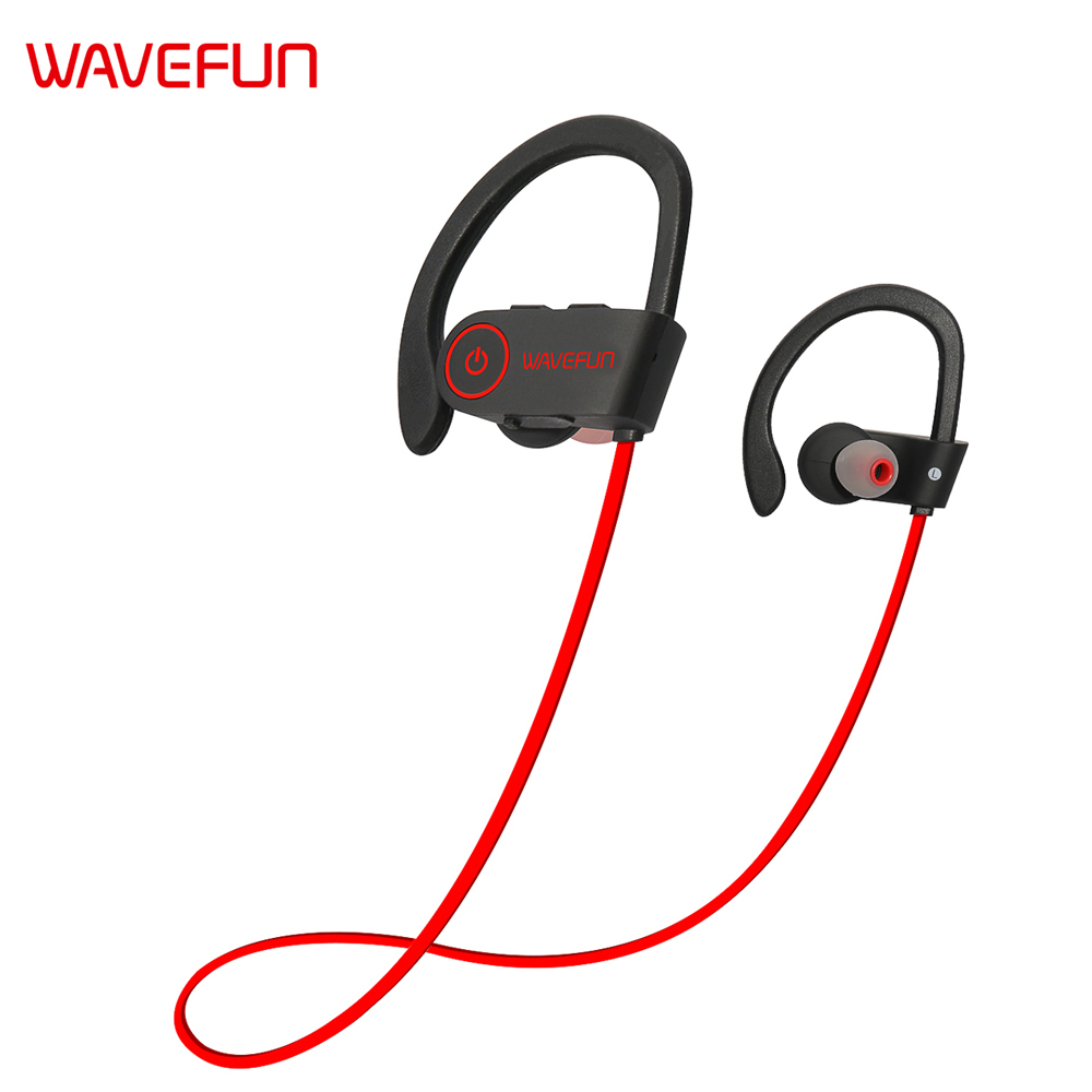 Wavefun X-Buds bluetooth earphone wireless earbuds IPX7 waterproof headphones sports super bass with mic for Xiaomi iPhone Phone