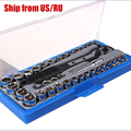 Free Shipping 38pcs/set ratchet wrench sleeve combination tool maintenance suit 1/4 3/8 car repair tools sets high quality
