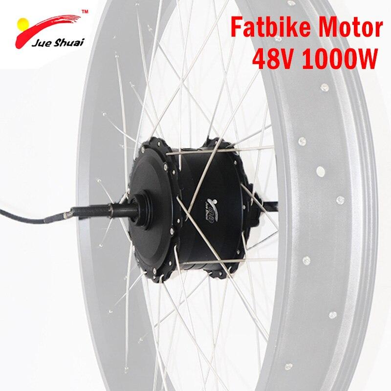 48V 1000W Brushless Hub Motor For 4.0 Fatbike Electric Bike Motor Wheel  High Speed Rear Drive Ebike E-bike 48V 1000W Motor