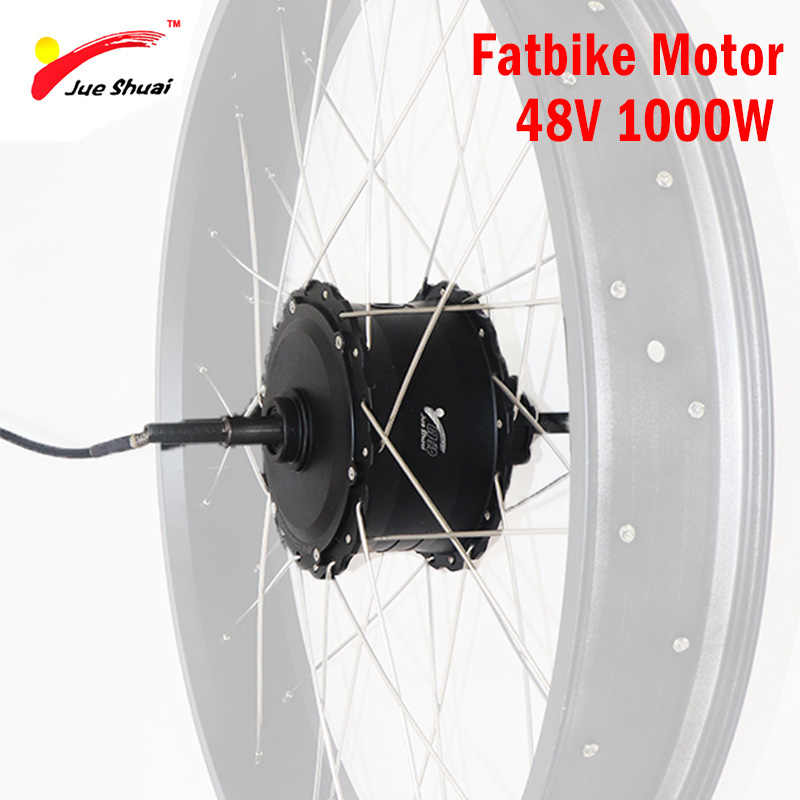 48V 1000W Brushless Hub Motor for 4.0 Fatbike Electric Bike Motor Wheel  High Speed Rear Drive Ebike E-bike 48V 1000W Motor