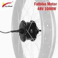 48 V 1000 W Бесщеточный мотор ступицы для 4,0 Fatbike Электрический мотор для велосипеда колеса высокоскоростной задний привод Ebike E bike 48 V 1000 W мотор