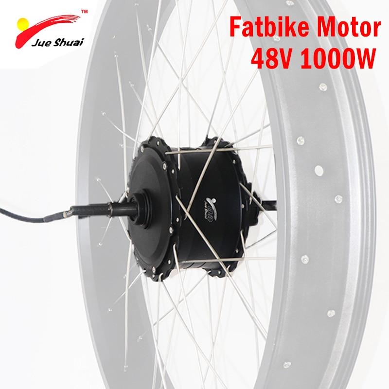 Moteur sans brosse de Hub de 48 V 1000 W pour la roue de moteur de vélo électrique de Fatbike 4.0 moteur arrière à grande vitesse de moteur d'e-Bike 48 V 1000 W