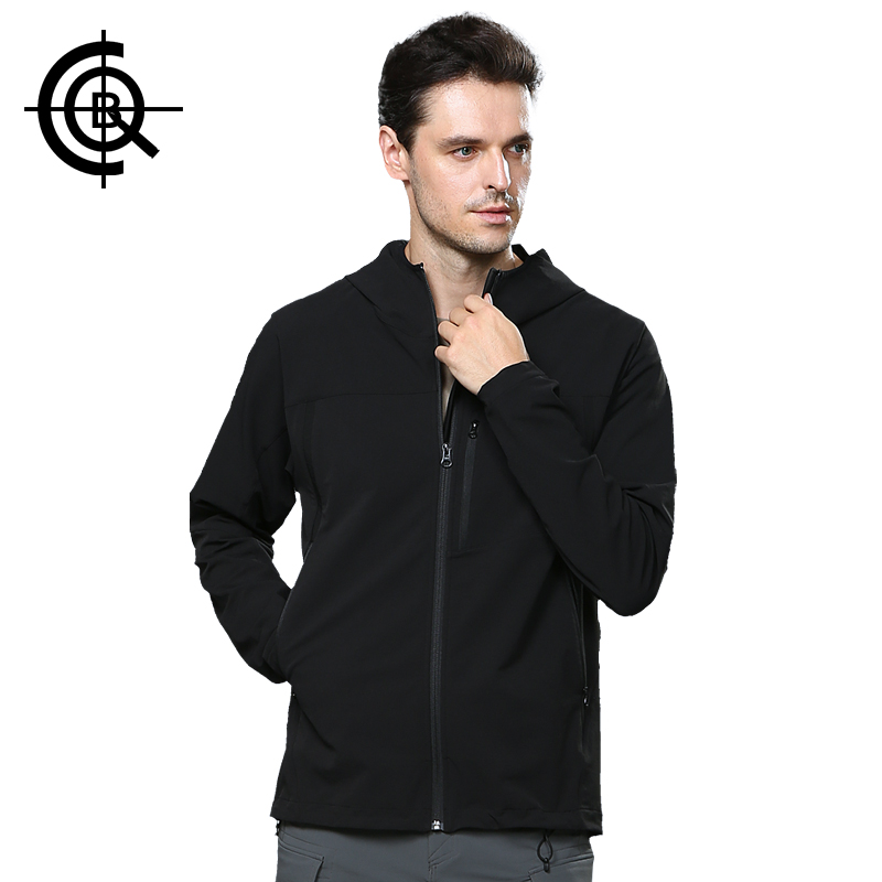 CQB Outdoor Softshell Jacket Men Water Repellent Camping Hunting Clothes Sports Leisure High Elastic Thin Coat  LYF0265