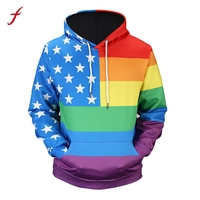 Mens American Flag 3D Print Hoodie Hooded Sweatshirt Tops Jacket Coat Outwear Autumn And Winter Hoodies
