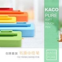 KACO Creative Gel Pen Kawaii Colorful Rollerball Pen And Silicone Pencil Case Ballpoint Pen School Supplies
