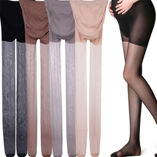 Adjustable High Elastic Leggings ummer Maternity Pregnant Women Pregnancy Pantyhose Ultra ThinTights Stockings 4
