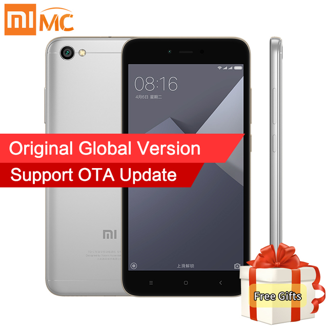 "Global Version Xiaomi Redmi Note 5A 2GB 16GB Smartphone Snapdragon 425 Quad Core 5.5"" HD Display 13MP Camera FDD LTE OTA Update"