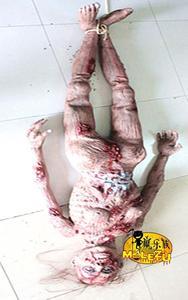 Image 2 - Gran oferta 2017 decoración de terror Halloween espeluznante fantasma zombi sangriento aterrador cuerpo completo Zombie Escape para casa embrujada Bar Props