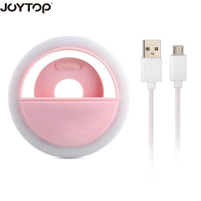 JOYTOP USB charge LED Selfie Ring Light for iPhone Supplementary Lighting Night Darkness Selfie Enhancing for iPhone smartphone