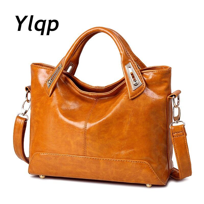 2016 New Winter Fashion Handbags Oil Wax Ladies Shoulder Messenger Bag