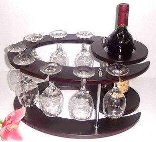 freeshipping Theroom fashion wine rack wood wine rack bar theroom wine rack fashion cup holder