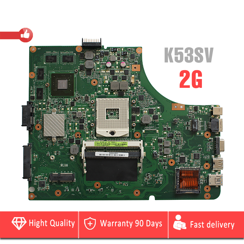 YTAI GT540M 2G for Asus K53SV P53S K53S K53SM K53SJ Laptop Motherboard GT540M 2G HM65 Mainboard fully tested цена 2017