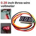 Мини DC 0-100 V 0,36 дюйма 3-провод датчик, вольтметр Вольтметр Красный цифровой светодиодный Дисплей цифровой Панель метр детектор инструмент для мониторинга - фото