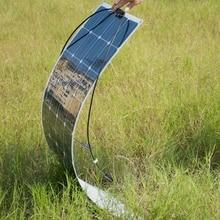 36 adet balıkçılık tekne için Mono Silikon 100 W esnek Güneş Paneli araç RV 12 V güneş paneli modülü sistemi kitleri pil güneş şarj
