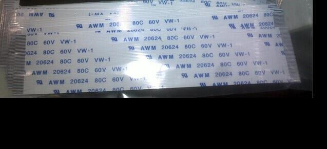 NOVO 100 pcs 30 cm ffc 15 pinos 1.0mm pitch Fita Flat Flex Cable 20624 pinos AWM 80C VW-1 60 V Botão De Energia