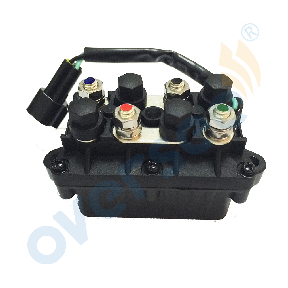 OVERSEE TRIM RELAY 61A-81950-00-00 Replace for YAMAHA Outboard Engine Motors 2Stroke 60HP To 200HP цена