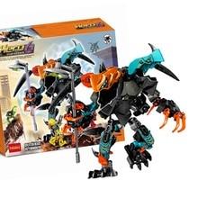 10466 Hero Factory  Splitter Beast vs. Furno Evo Compatible With Legoing 44021 Block Set Robots Building Brick Toy