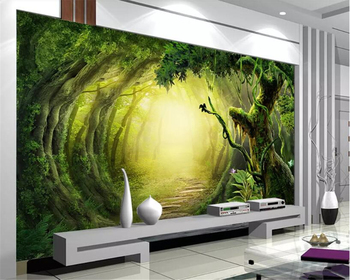 Beibehang Custom Photo Wallpaper fantasy woods trail Wall Mural Wallpaper For Living Room Bedroom Background wall 3D wallpaper beibehang custom 3d photo landscape mural abstract woods wallpaper for living room study room backdrop wallpaper home decor