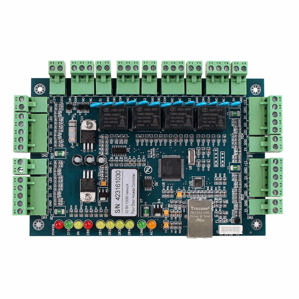 Wiegand TCP/IP Network Entry Access Control System Board Panel Controller for 4 Door 4 Reader F1757L  wiegand tcp ip network access control board panel controller for 2 door with 4 reader