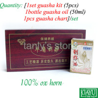 Wholesale Retail Traditional Acupuncture Massage Hard Box Gua Sha Kit 5pcs Set 1pcs Chart 1bottle Guasha
